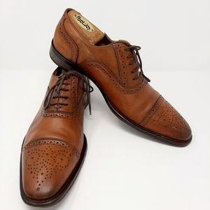 John W. Nordstrom Caramel Brown Oxfords Size 9.5